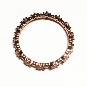 New Rose Gold Plated 925 Sterling Silver Ring